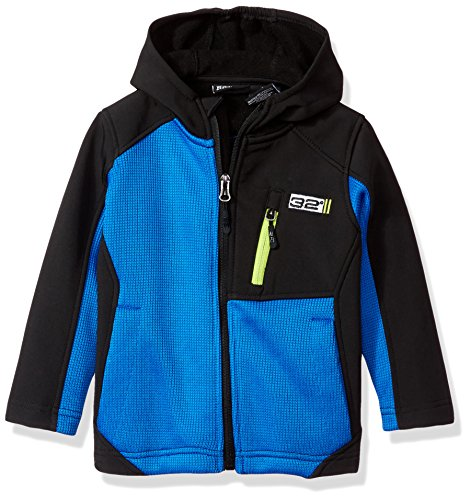 32 DEGREES Weatherproof Toddler Boys' Outerwear Jacket (More Styles Available), Syder Hooded Blue, 2T