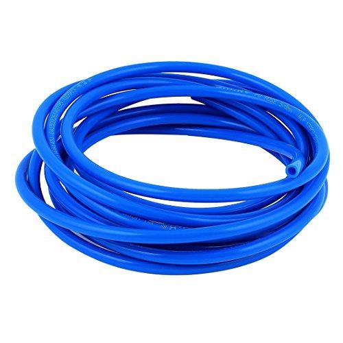 sourcingmap 8 mm X 5 mm Fleaxible Pu Tubo Neumático Manguera Azul 5M Longitud