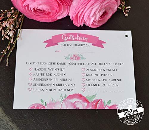 30 Ballonflugkarten Luftballonkarten Hochzeit, Gutschein ausfüllen fürs Brautpaar, Hochzeitsspiel