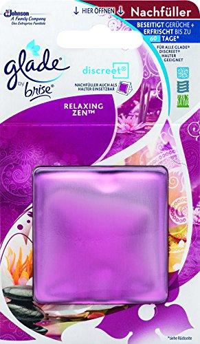 Glade By Brise Original Nachfüller für Discreet Duftprodukte, Für langanhaltende Frische in allen Räumen, 6 x 8 g, Frischer Relaxing Zen-Duft