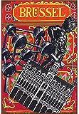 Cartel de metal de pared de Bruselas, placa retro, señal de chapa de advertencia, pintura de hierro vintage, decoración, manualidades colgantes divertidas para oficina, dormitorio, sala de estar, clu