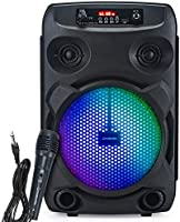 Modernista Sound Box 100 Wireless Bluetooth Speaker 20W with Wired Karaoke Mic/FM/Aux/LED Lights/Portable Outdoor Party...