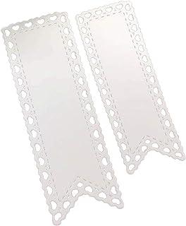 RIsxffp Troqueles 2 Unids Banner Etiqueta Coraz/ón Bandera Troqueles De Corte de Metal DIY Scrapbook Papel Tarjetas Stencil Silver