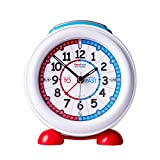 EasyRead Time Teacher Children's Alarm Clock with Night Light, Red Blue Past