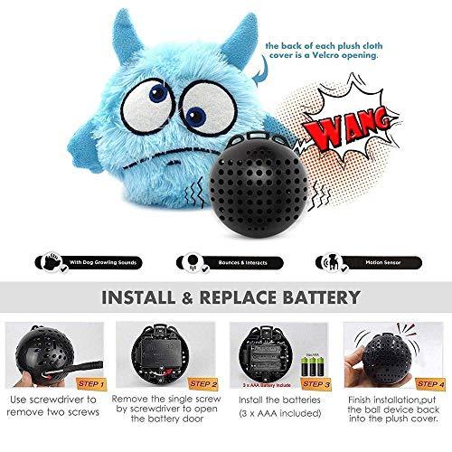 LVYIMAO Interaktives Spielzeug für Haustiere, Geburtstagsgeschenke, für Hunde und Katzen, Plüsch, automatisch springend, kichernder Ball, interaktives Shake-Spielzeug
