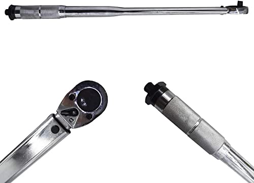 high quality Torque Wrench 1/2 Inch Drive Click-Type wholesale Hand outlet sale 25-250 ft/lb(33.9-338.9 Nm) online sale