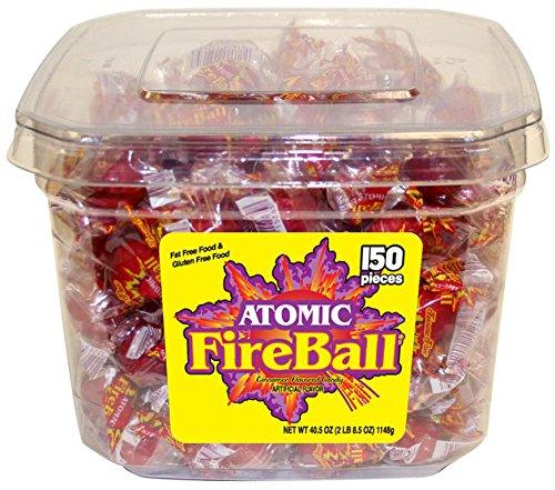 Atomic Fireballs Cinnamon Hard Candy, 40 Ounce Tub