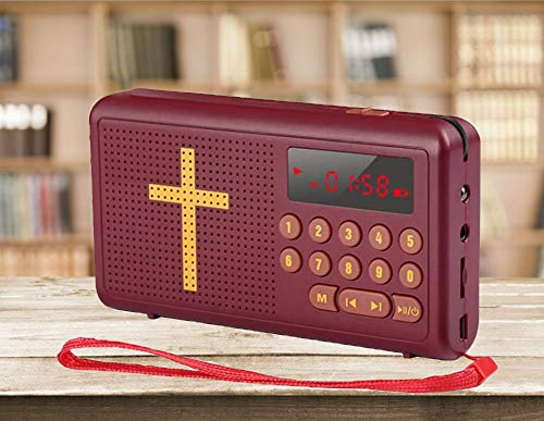 Bible Player Talking Audio Bible Reader English Standard Version KJV (King James Version) New & Old Testament Endorsed Kids Audio Bible with Charger Speaker