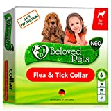 Flea and Tick Collar for Dogs and Cats - Natural Flea Treatment for Pets Kittens Puppies - Flea Prevention Up to 6 Months -Non-Allergic Repellent - Immediate Flea Control