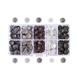 Pandahall 1Box/500 5 Colors Iron Filigree Flower Bead Caps Floral End...