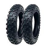 MMG Set of 2 Mini Dirt Bike Knobby Tire 2.50/10 Front or Rear Tube Type Off Road Motocross Pattern