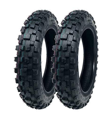 MMG Set of 2 Mini Dirt Bike Tires 2.50-10 Front or Rear Tube Type Off Road Motocross Pattern