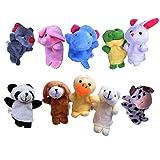 Beyond Dreams® 10 Fingerpuppen Set für Kinder | Velvet Tiere Handpuppen | Spielzeug Fingertiere | Spiele Mitbringsel Mitgebsel Geschenk Kindergeburtstag -