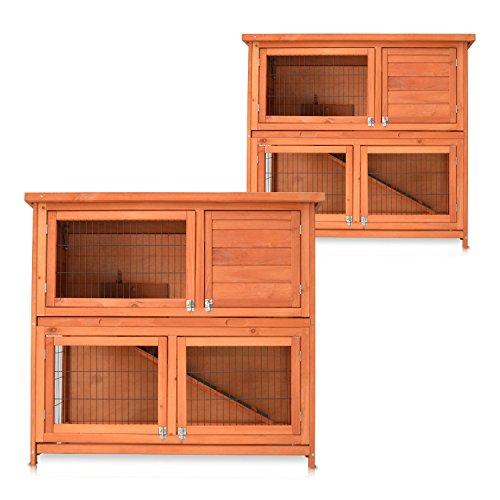 Zooprimus Kaninchenstall 20 Hasenkäfig - MUKKEL - Terrassen-Stall (GRÖßE: (XL) | für Kleintiere: Hasen, Kaninchen, Meerschweinchen usw.)