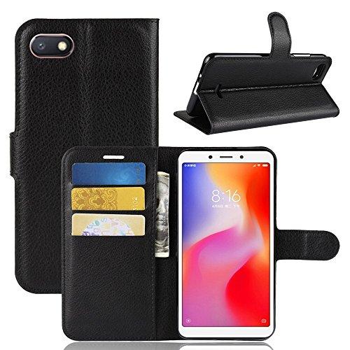 Capa Capinha Carteira Flip Wallet Case 360 Xiaomi Redmi 6a Tela 5.45 Couro Sintético Pronta Entrega (Preto)