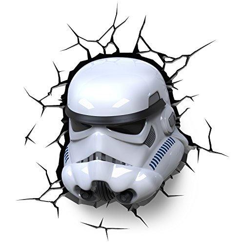 3D Deco Star Wars Stormtrooper Wall Light (With Remote and Timer)