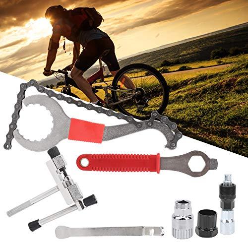 Herramienta de extracción de Volante, removedor de piñones, Kit de extracción de casetes de Bicicleta para Bicicletas de montaña para Bicicletas de Carretera(Widen Tire Lever)