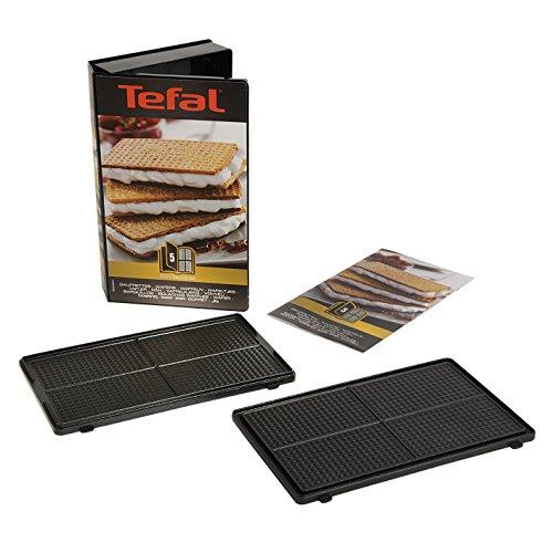 Tefal Coffret Snack Collection de 2 plaques gaufrettes + livre de recettes XA800512