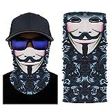 Kiemeu Kühl Multifunktionstuch für Herren und Damen,Halstuch für Mundschutz und Motorrad,Schlauchschal für Sommer,Funktionstuch für Sport(Lächelnde Maske)