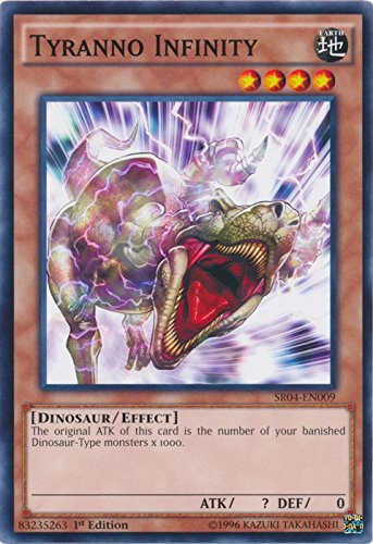 yu-gi-oh Tyranno Infinity - SR04-EN009 - Common - 1st Edition - Structure Deck: Dinosmasher's Fury (1st Edition)