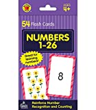 Carson Dellosa   Numbers 1–26 Flash Cards   Counting, Preschool, 54ct (Brighter Child Flash Cards)