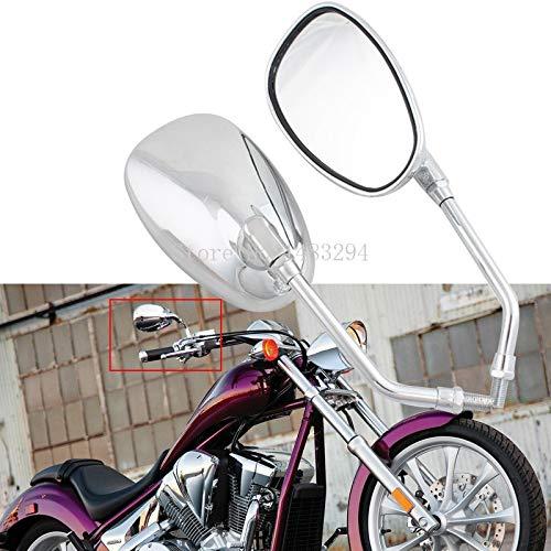 KUZOHHYKHX Motocicleta molduras Chrome 10MM Espejo retrovisor Espejo Lateral Ajuste for Suzuki M109R C109 C50 GSR VZR Kawasaki Vulcan VN Honda Shadow VT400 / 700