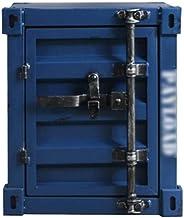 Security Lock Boxes Retro Box Iron Cabinet Locker Display Cabinet - Dark Blue - Safe -40X38X48cm Multi-Functional Storage ...