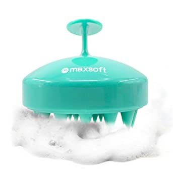 reviewer image of the bristles on the blue massager