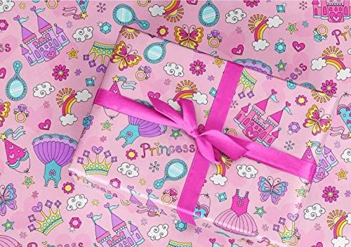 Gift Wrapping Paper 30 x 84 Sheet Vintage Style Princess product image