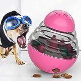 Bestio 猫犬 おやつおもちゃ ペット給餌おもちゃ おやつボール 丈夫で長持ち 猫犬の遊び好き天性満足 IQ&挙動激励 運動不足解消(ピンク)