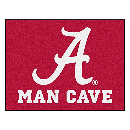 FANMATS 14525 University-of-Alabama Nylon Universal Man Cave All-Star Matte