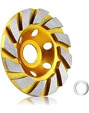 10 cm betongsten keramisk turbo diamant slipkopp hjul, 12 segs slitstark vinkelslip hjul för vinkelslip (gul)