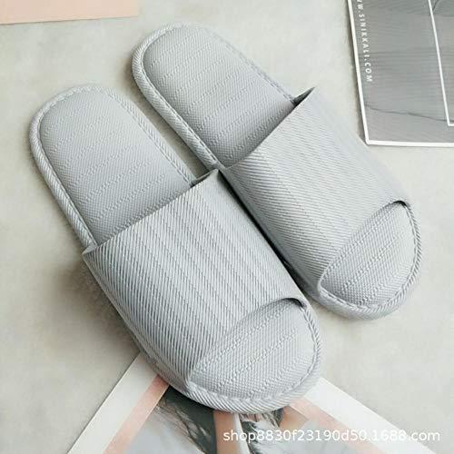 LNLJ - Pantuflas de masaje para el pie, zapatillas para el hogar, zapatillas de vaciado de baño, color gris (hombre) _ 44~45