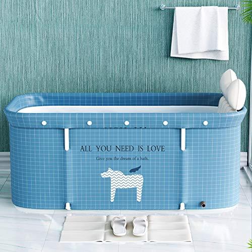 Faltbare Badewanne für Erwachsene, 120 cm, tragbar, nicht aufblasbare Badewanne – PVC/SPA, freistehende dicke Kunststoff-Faltwanne für Erwachsene, Sauna-Dampfbadewanne für Erwachsene