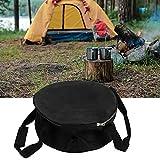 Surebuy Tragetasche, tragbare leichte Dutch Oven Tasche Dutch Oven Aufbewahrungstasche für Outdoor Camping(Black)