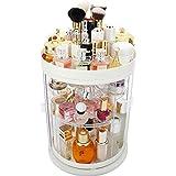 Caja de Almacenamiento de cosméticos giratoria de 360 ° a Prueba de Polvo, lápiz Labial Productos para el Cuidado de la Piel Tocador Organizador de Escritorio, organizadore