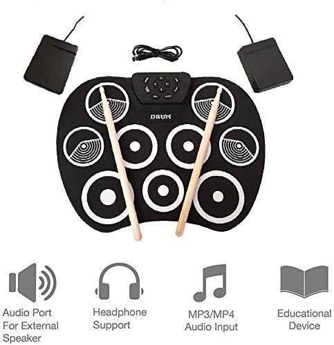 Rollo de la mano tambores niños principiantes de percusión de batería electrónica rollo instrumento mano USB cumpleaños navidad regalo de año nuevo for el muchacho kyman