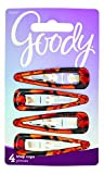 Goody Women's Classic Shiny Tort Contour Clips, 4 Count