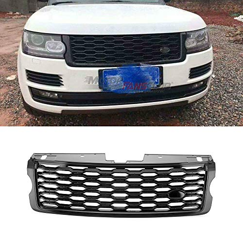 MotorFansClub Front Upper Facelift Grill Fit For Compatible With Range Rover Vogue L405 2013-2017 Full Gloss Black