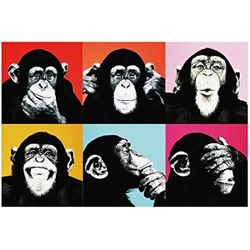Graffiti lindo mono lienzo pintura colorido cartel impreso e impresiones pintura cuadros de pared para sala de estar decoración del hogar