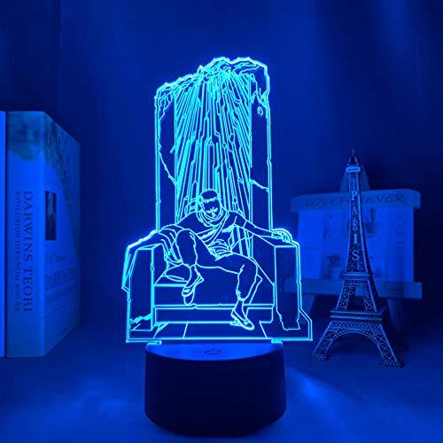 Lámpara de ilusión 3D luz de noche Led para cabecera Akira Shima Tetsuo Anime para decoración de dormitorio escritorio de cumpleaños para niños 16 colores con control remoto