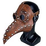 Moterくちばしマスク、中世のペストマスク、ヘッド博士マスク、スチームパンクコスチュームアクセサリー大人のためのコスプレハロウィン,ブラウン