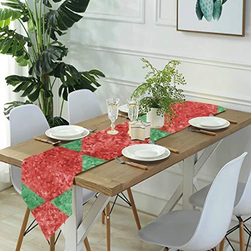 Meiya-Design Tischläufer / Kommode, Harlekin Diamanten, Mosaik, Küche, Tischläufer, für Bauernhof-Abendessen, Urlaub, Partys, Hochzeiten, Veranstaltungen, Dekoration, 33 x 178 cm