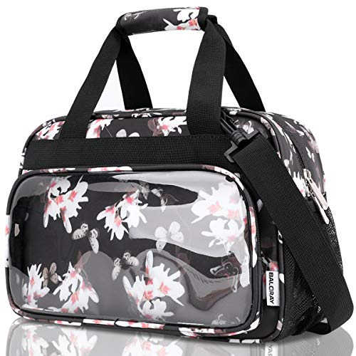 BALORAY Leakproof Lunch Bag for Women with Strap Reusable Insulated Lunch Box Tote Coolder Organizer for/Picnic/Boating/Beach/Fishing/Work (Peony)