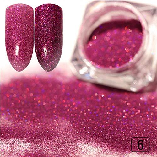 Poudre à ongles,Poudre à ongles Poudre à ongles Glitter Dust Mirror Effect Ongle coloré Chrome Pigment Dust Nail Art DIY Design 1 Box-1g F