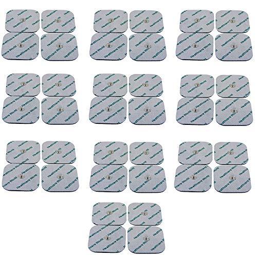 TENS Almohadillas Electrodos paquete de 40 Para Beurer EM 40, EM 41, EM 80 50 x 50 mm de Healthcare World®