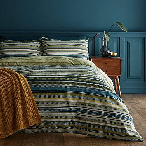 copripiumino verde Catherine Lansfield Ravenna - Set copripiumino per letto king size