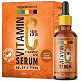 Organix Mantra Vitamin C Serum 25% for Face with Hyaluronic Acid, Ferulic Acid