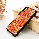 WGOUT para iPhone 5 5S SE 2020 6 6S TPU Funda de Siliconapara iPhone 7 Plus XX 11 12 Mini Pro MAX XR Naranja Flower Power, para iPhone SE 2020