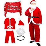 Dolloly gaoting-007 Christmas Deluxe Suit Adult Santa Claus Costume, red